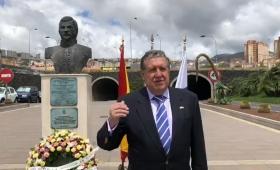 Puerta saludó a los argentinos en España este 25 de Mayo desde Canarias
