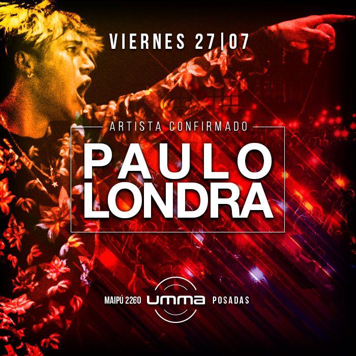 Paulo Londra, este viernes en Posadas