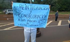 Esperanza: volvieron a pedir la reincorporación de los policías