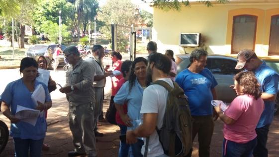 Vigilia antes de la reunión con autoridades de Salud Pública