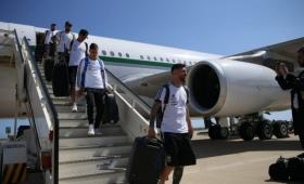 La Selección Argentina llegó a Barcelona