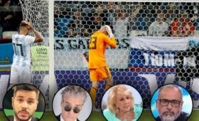 Los mensajes famosos tras la derrota de Argentina