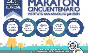 Este sábado se realizará la Maratón de los 50 años del Janssen