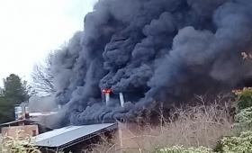 Campo Viera: se incendió un secadero de yerba
