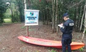 Encuentran en el monte un kayak robado