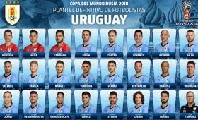 Rusia 2018: Uruguay reveló los 23 convocados