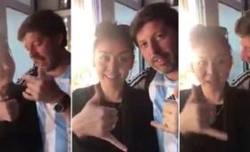 Viralizan el video de otra agresión sexista de un hincha argentino