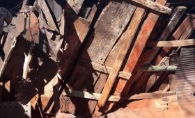 Un anciano quedó atrapado entre los restos de su vivienda en Oberá