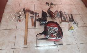 Cayeron jovencitos que robaron herramientas de una iglesia