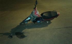 Choque de motos en barrio A3-2