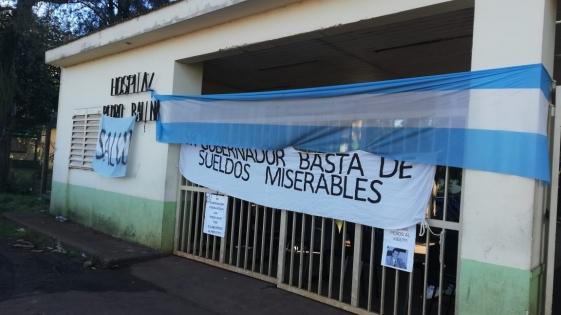 Hospitales Baliña y Carrillo: más de un mes de paro