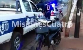 Choque de motos en avenida Cocomarola