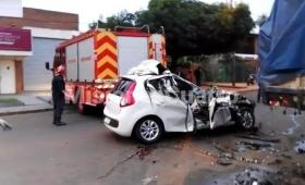 Automovilista falleció tras impactar contra un camión estacionado