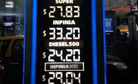 El litro de combustible ¿a 40 pesos?