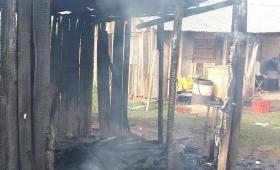 Se quedó sin casa por un incendio