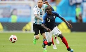 Los franceses se acordaron de Messi en la celebración por el Mundial