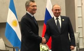 Macri y Putin acordaron ampliar la cooperación y el intercambio comercial
