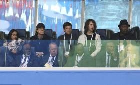 """Mick Jagger, el """"mufa de los Mundiales"""" estuvo en el Francia vs. Bélgica"""
