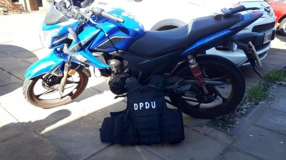 Motochorros paraguayos detenidos en pleno centro