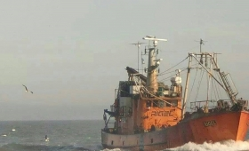 Hallaron hundido al pesquero Rigel en Chubut