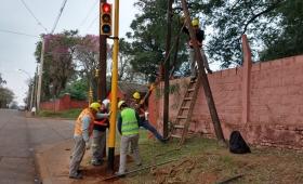 Reparan semáforos de la avenida San Martín