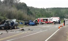 Triple choque dejó 2 muertos y 5 heridos en San Martín