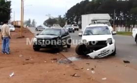 Violento choque en Quaranta y Zapiola