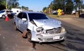 Violento choque en avenida Llamosas