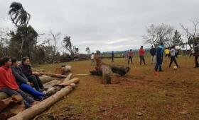 Yapeyú: el IEA 13 fue arrasado por el tornado