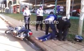 Despiste de una moto en avenida Cocomarola