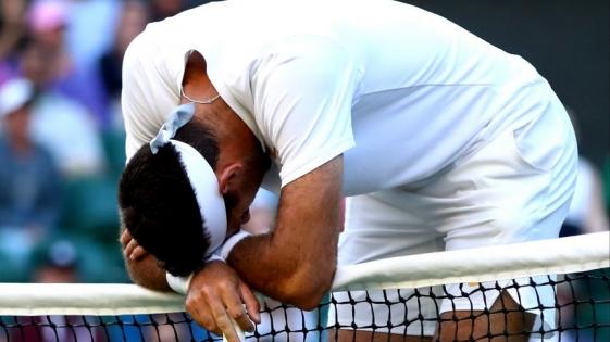 Del Potro cayó ante Nadal en Wimbledon
