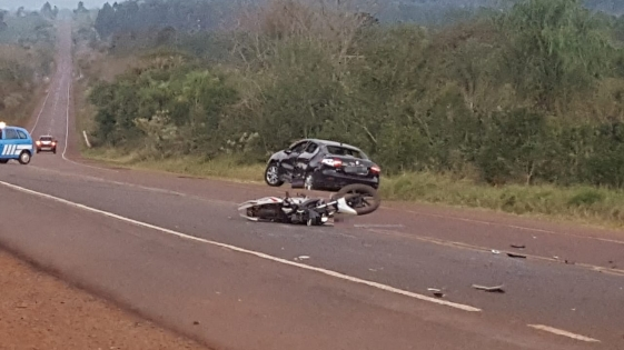 Falleció motociclista tras un choque en ruta 7