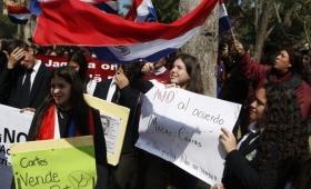 Paraguay: protestaron contra acuerdo por Yacyretá