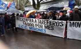 La CCC y el Movimiento Evita acompañaron el reclamo tarefero