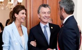 Macri en la ceremonia de asunción del presidente de Paraguay