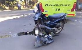 Falleció el motociclista que había chocado con un colectivo