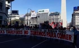 Tareferos se manifestaron ante el Ministerio de Trabajo de Nación