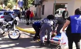 Chocaron moto y auto en La Rioja y Buenos Aires