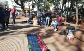 Manifestación en defensa de la Universidad Pública