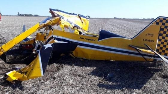 "Murió el piloto ""Tati"" Angelini en un accidente aéreo"
