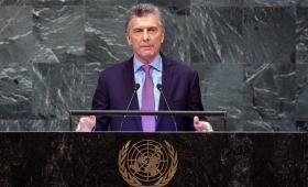"""Macri planteó en Naciones Unidas una Argentina """"protagonista"""""""