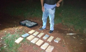 Candelaria: incautaron 13 panes de marihuana