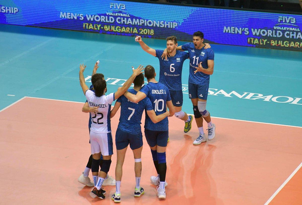 Histórico triunfo de Argentina ante Polonia, el último campeón — Voleibol