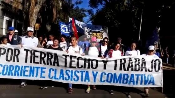 Organizaciones sociales se movilizaron en Posadas