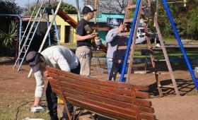 Restauraron la plaza del barrio San Miguel