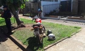 Heridos graves en accidente de motocicleta