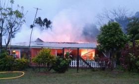 Se incendió una vivienda en Fracrán