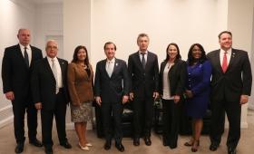 Congresistas de los EE.UU se reunieron con Macri