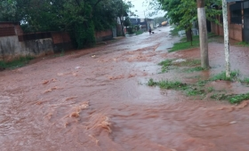 La lluvia inundó gran parte de Posadas