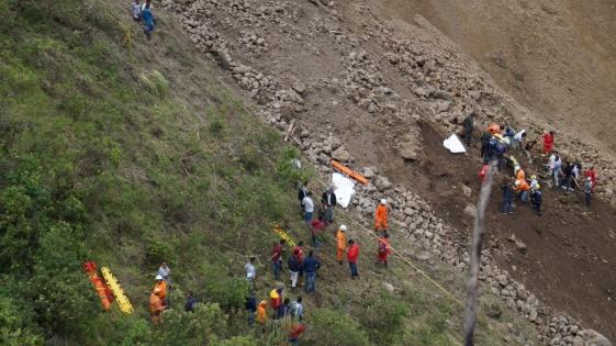Al menos doce muertos por un alud en Colombia